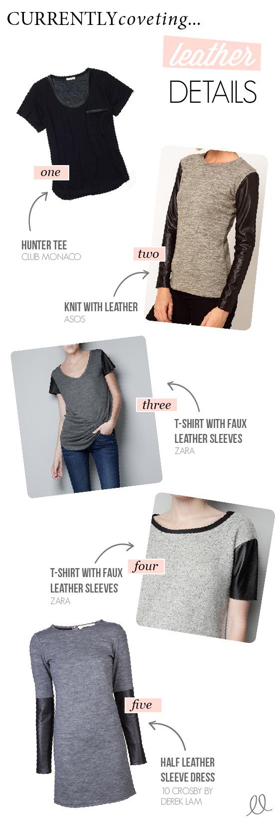trend alert - 2012- leather sleeves