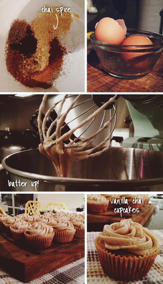 Chai Cupcake Recipe