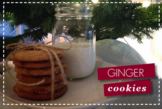 holiday baking - christmas cookies - ginger