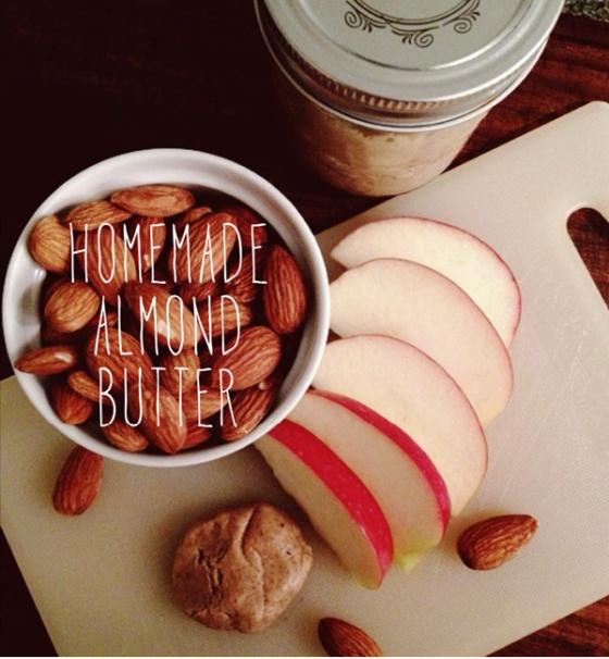 almond butter - homemade - nut butters